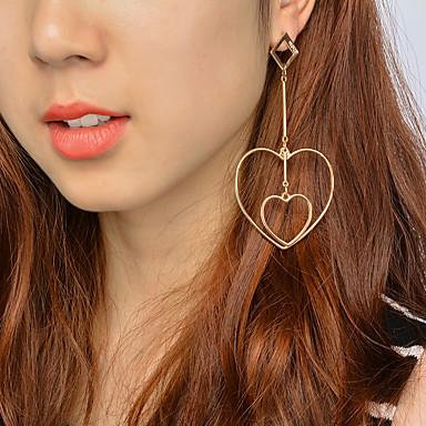 Damen Ohrringe baumeln Schmuck Einzigartiges Design Anhänger Stil Herz Modisch bezaubernd individualisiert nette Art Euramerican Aleación