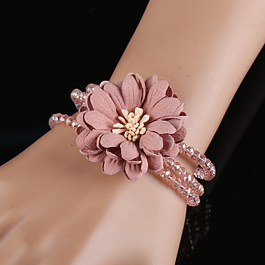 Dames Armbanden met ketting en sluiting Bedelarmbanden Strand Armbanden Bohémien Met de Hand Gemaakt Modieus Kristal polyresin