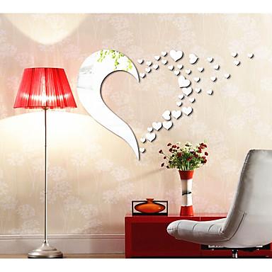 Abstract Forme #D Perete Postituri Acțibilduri de Oglindă Autocolante de Perete Decorative, Teracotă Pagina de decorare de perete Decal