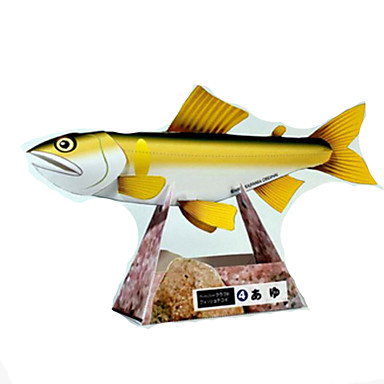 3D - Puzzle Papiermodel Papiermodelle Modellbausätze Quadratisch Fische Heimwerken Hartkartonpapier Klassisch Kinder Unisex Geschenk