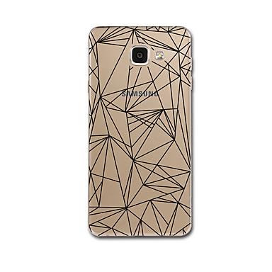 غطاء من أجل Samsung Galaxy A5(2017) A3(2017) شفاف نموذج غطاء خلفي خطوط / أمواج نموذج هندسي ناعم TPU إلى A3 (2017) A5 (2017) A7 (2017) A8