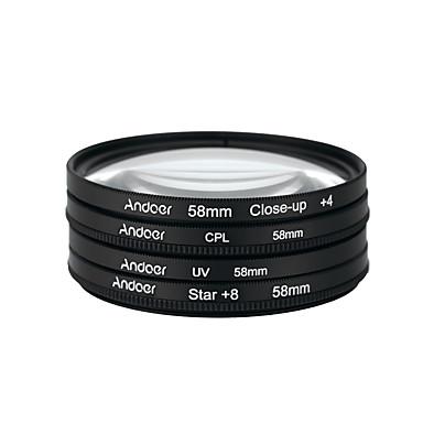 Andoer 58mm uv cpl close-up4 ster 8-punts filter circulaire filter kit circulaire polarisator filter macro close-up ster 8-punts filter