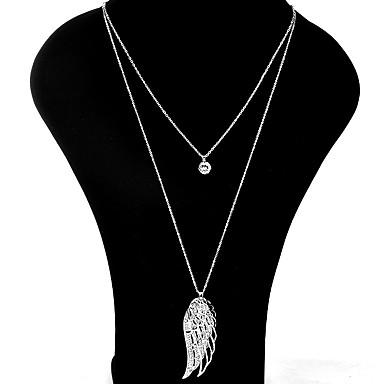 Dames Hangertjes ketting Kettingen gelaagde Kettingen Bergkristal Wings Strass Legering Gepersonaliseerde Luxe Uniek ontwerp Hangende