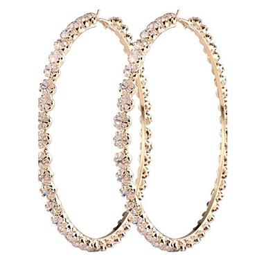 للمرأة أقراط قطرة الماس الاصطناعية موضة المتضخم سبيكة Circle Shape مجوهرات من أجل زفاف حزب هدية يوميا مواعدة