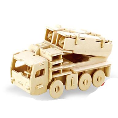 قطع تركيب3D تركيب تركيب معدني الخشب نموذج مجموعات البناء ألعاب دبابة 3D اصنع بنفسك خشب الخشب الطبيعي غير محدد قطع