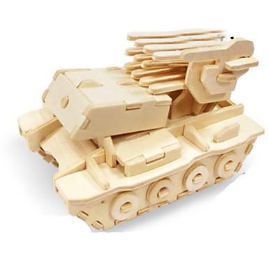 3D-puzzels Legpuzzel Metalen puzzels Houten modellen Modelbouwsets Tank 3D DHZ Hout Natuurlijk Hout Klassiek Unisex Geschenk