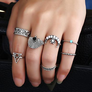 للمرأة خاتم تصميم دائري السبيكة الحديدية سبيكة معدنية راتينج معدن سبيكة Circle Shape Round Shape مجوهرات من أجلعيد ميلاد حفلة/سهرة مواعدة