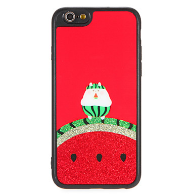 hoesje Voor Apple iPhone 7 Plus iPhone 7 Patroon Achterkant Fruit Glitterglans Cartoon Hard PC voor iPhone 7 Plus iPhone 7 iPhone 6s Plus