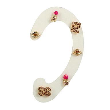 Dames Oorknopjes Ring oorbellen Oorbel Uniek ontwerp Euramerican Eenvoudige Stijl Punk Strass Legering Geometrische vorm Sieraden Lahja