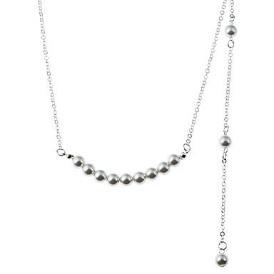 Damen Linienform Gestalten Künstliche Perle Halsketten Anhängerketten Layered Ketten Strass Imitierte Perlen Künstliche Perle Halsketten