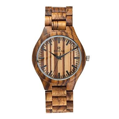 Heren Horloge Hout Japans Kwarts houten Hout Band Luxe Elegant Zwart Bruin