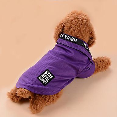 Hond T-shirt Hondenkleding Casual/Dagelijks Letter & Nummer Grijs Paars Blauw Roze Kostuum Voor huisdieren