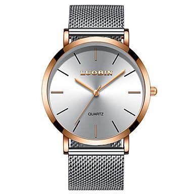 Bărbați Ceas Elegant  Ceas La Modă Quartz Rezistent la Apă Aliaj Bandă minimalist Argint