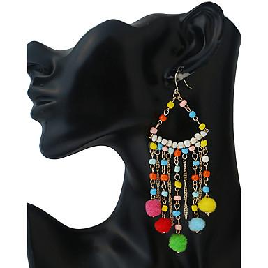 Dames Druppel oorbellen Ball Oorbellen Meetkundig Tupsu Vintage Opvallende sieraden Met de Hand Gemaakt polyresin Hars Kromi