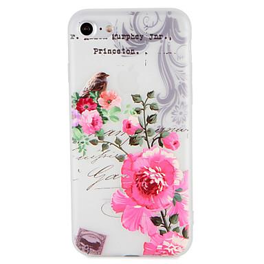 غطاء من أجل Apple iPhone 7 Plus iPhone 7 نموذج مطرز غطاء خلفي زهور شجرة حيوان ناعم TPU إلى iPhone 7 Plus iPhone 7 iPhone 6s Plus ايفون 6s