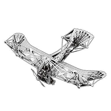 قطع تركيب3D تركيب تركيب معدني مجموعات البناء طيارة 3D مواد تأثيث اصنع بنفسك كروم معدن كلاسيكي للأطفال للبالغين فتيات صبيان للجنسين هدية
