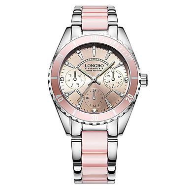 للمرأة ساعة فستان ساعات فاشن كوارتز عرض ساخن ستانلس ستيل فرقة ترف فضة الوردي