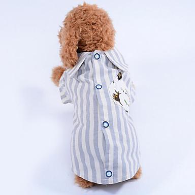 كلب T-skjorte ملابس الكلاب مخطط أخضر أزرق قطن كوستيوم للحيوانات الأليفة صيف للرجال للمرأة كاجوال/يومي
