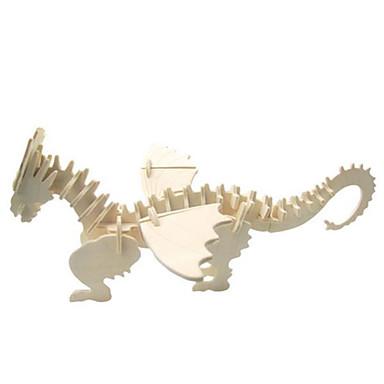 3D-puzzels Legpuzzel Houten modellen Modelbouwsets Dinosaurus Dier 3D Simulatie DHZ Hout Natuurlijk Hout Klassiek 6 jaar en ouder