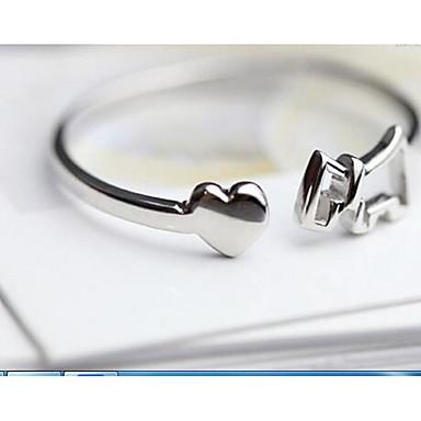 Dames Ringen voor stelletjes Sieraden Standaard Cirkel Sterling zilver Ronde vorm Sieraden Voor Verjaardag Valentijnsdag
