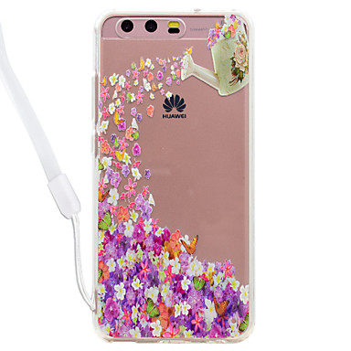 hoesje Voor Huawei Transparant Patroon Achterkantje Vlinder Transparant Bloem Hard Acryl voor Huawei P10 Lite Huawei P10 Huawei P9 Lite