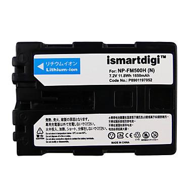 Ismartdigi fm500h 7.2v baterie 1650mah camera foto pentru sony dslr-a77 a100 a200 a350 a450 a550