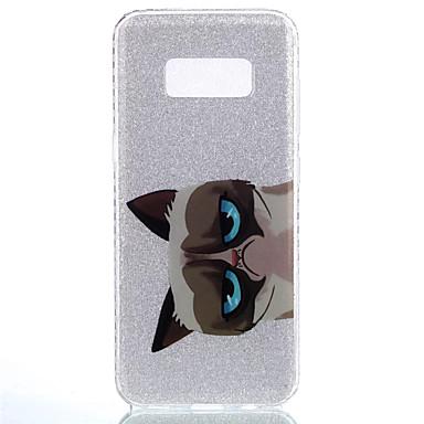 hoesje Voor Samsung Galaxy S8 Plus S8 IMD Achterkantje Kat dier Glitterglans Zacht TPU voor S8 S8 Plus S7 edge S7