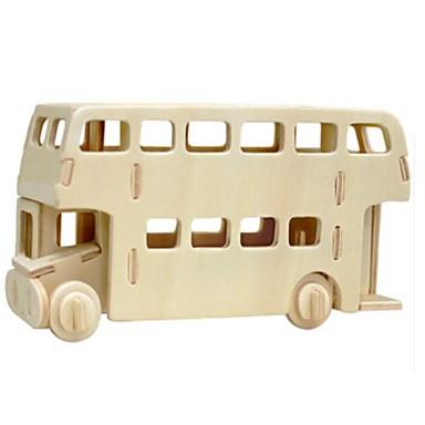 Puzzle 3D Puzzle Modelul lemnului Jucarii Autobuz Leu 3D Reparații Lemn Lemn natural Unisex Bucăți