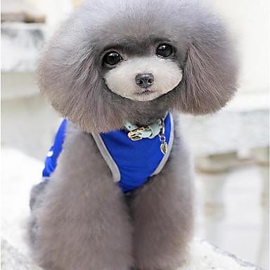 Hund Weste Hundekleidung Lässig/Alltäglich Solide Grau Rot Blau Kostüm Für Haustiere