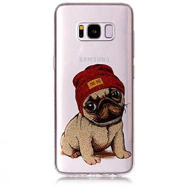 Недорогие Чехлы и кейсы для Galaxy S6-Кейс для Назначение SSamsung Galaxy S8 Plus / S8 / S7 edge IMD / С узором Кейс на заднюю панель С собакой / Сияние и блеск Мягкий ТПУ