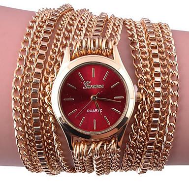 Dames Armbandhorloge Digitaal Metaal Band Zwart Wit Zilver Rood Goud Roze