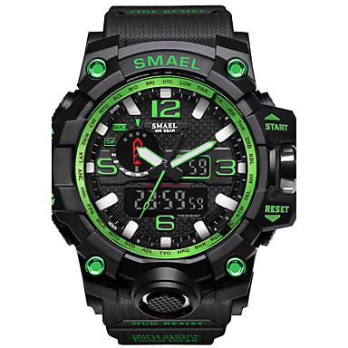 זול שעוני גברים-SMAEL בגדי ריקוד גברים שעוני ספורט שעונים צבאיים שעון דיגיטלי Japanese דיגיטלי דמוי עור מרופד סיליקוןריצה שחור / אדום / תפוז 50 m עמיד במים לוח שנה כרונוגרף אנלוגי-דיגיטלי יום יומי אופנתי -