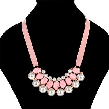 Pentru femei Boem Imitație de Perle Imitație de Perle Ștras Aliaj Lănțișoare Guler - Imitație de Perle Ștras Aliaj Γεωμετρικά Design