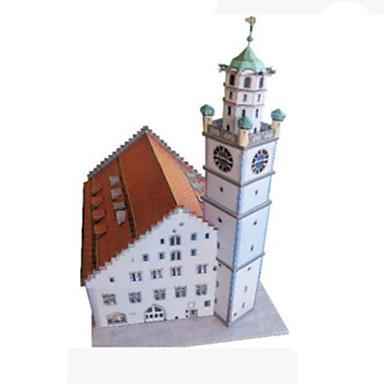 قطع تركيب3D نموذج الورق ألعاب مربع برج بناء مشهور معمارية 3D اصنع بنفسك ورق صلب غير محدد قطع