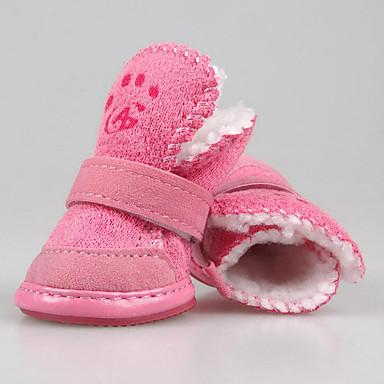 Hund Schuhe und Stiefel Lässig/Alltäglich warm halten Massiv Braun Rosa