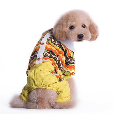 Hond Jumpsuits Hondenkleding Casual/Dagelijks Meetkundig Geel Blauw Kostuum Voor huisdieren