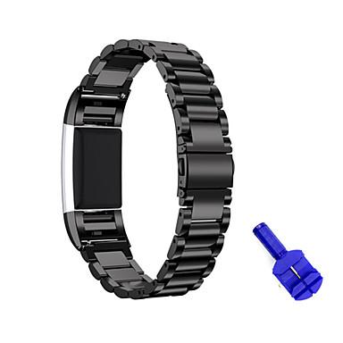 حزام إلى Fitbit Charge 2 فيتبيت عصابة الرياضة ستانلس ستيل شريط المعصم