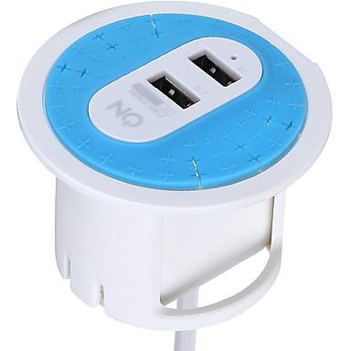 Încărcător Casă Încărcător Portabil Telefon încărcător USB Priză AU Cabluri 2 Porturi USB 3.1A AC 100V-240V
