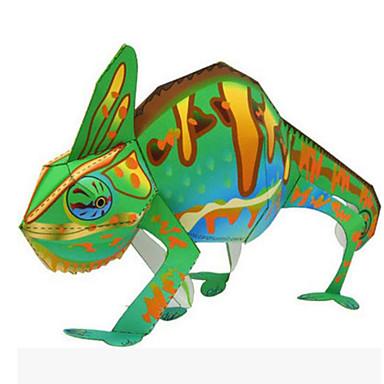 قطع تركيب3D نموذج الورق مجموعات البناء أشغال الورق ألعاب دائري مربع 3D الحيوانات اصنع بنفسك محاكاة تغيير اللون للجنسين قطع
