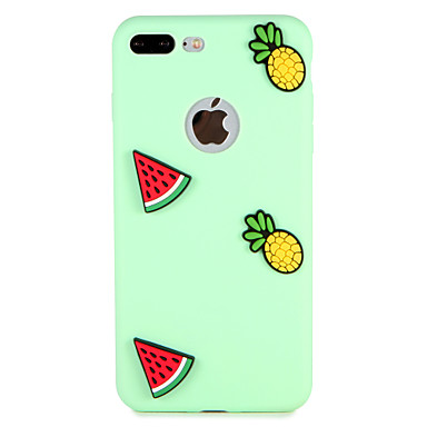 hoesje Voor Apple iPhone 7 Plus iPhone 7 Patroon Achterkant Fruit 3D Cartoon Zacht Siliconen voor iPhone 7 Plus iPhone 7 iPhone 6s Plus