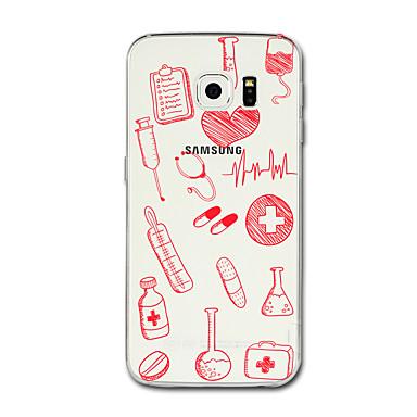 hoesje Voor Samsung Galaxy S8 Plus S8 Transparant Patroon Achterkantje Hart Zacht TPU voor S8 S8 Plus S7 edge S7 S6 edge plus S6 edge S6