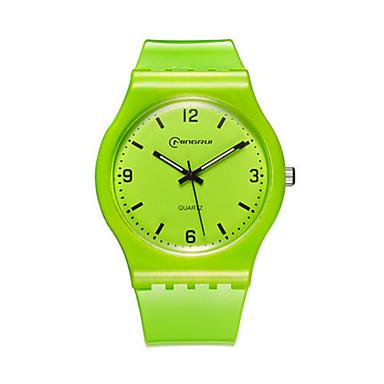 للمرأة ساعة رياضية ساعات فاشن كوارتز مقاوم للماء مطاط فرقة أزرق أخضر