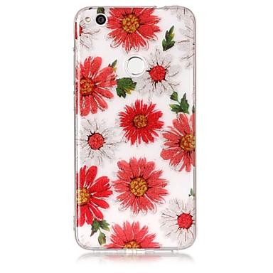 غطاء من أجل Huawei IMD نموذج غطاء خلفي زهور بريق لماع ناعم TPU إلى Huawei P9 Lite Huawei P8 Lite Huawei P8 Lite (2017)