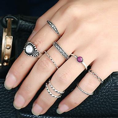 Pentru femei manşetă Ring Inel Band Ring Argintiu Auriu Aliaj Metalic Reșină Aliaj Circle Shape Design Circular Cerc Africa Euramerican