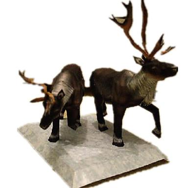 3D - Puzzle Papiermodel Papiermodelle Modellbausätze Elk Hirsch Tiere Simulation Heimwerken Hartkartonpapier Klassisch Kinder Unisex