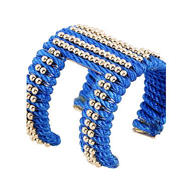 Dames Bangles Cuff armbanden ID Armbanden Modieus Vintage Bohemia Style Punk-stijl Ijzerlegering Hars Ovalen vorm Sieraden Voor