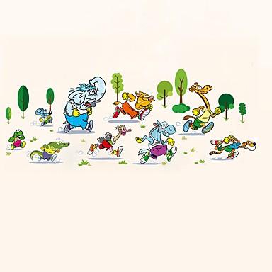 حيوان مناظر الطبيعية مربع الرياضة ملصقات الحائط لواصق حائط الطائرة لواصق حائط مزخرفة,ورقة الفينيل مادة تصميم ديكور المنزل جدار مائي