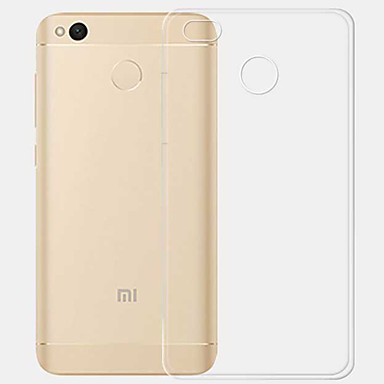 cheap Cases / Covers for Xiaomi-ASLING Case For Xiaomi Transparent Back Cover Transparent Soft