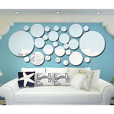 Abstract Forme #D Perete Postituri Autocolante perete plane 3D Acțibilduri de Perete Acțibilduri de Oglindă Autocolante de Perete