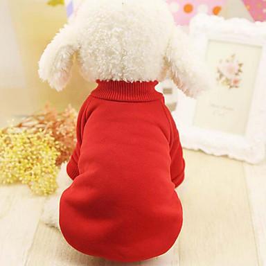 Câine Hanorca Îmbrăcăminte Câini Casul/Zilnic Solid Negru Rosu Albastru Roz Costume Pentru animale de companie